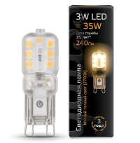 Лампа Gauss LED G9 AC220-240V 3W 2700K пластик
